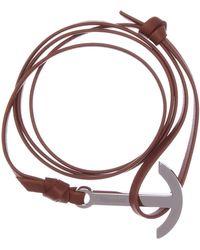 Miansai - Modern Anchor On Leather Bracelet - Lyst