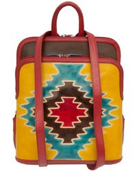 ILI - Hand-painted Cowhide Leather Backpack - Lyst