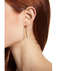 Argento Vivo - 18k Gold Plated Sterling Silver Textured Threader Earrings - Lyst