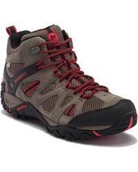 Merrell - Deverta Mid Ventilation Waterproof Suede Hiking Boot - Lyst