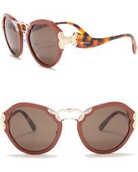 78e4c208b8 Lyst - Prada Catwalk Cinema 49mm Cat Eye Sunglasses