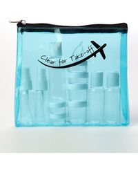 MIAMICA - Clear For Take-off Clear Security Case With Assorted Bottles 15-piece Set - Turquoise - Lyst