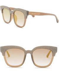 3cf421dc9e5 Jimmy Choo - Mayela 50mm Glitter Square Sunglasses - Lyst