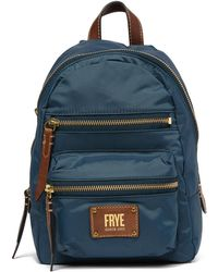 Frye - Ivy Mini Nylon Leather-trimmed Backpack - Lyst