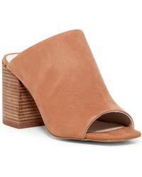 Kenneth Cole - Karolina Leather Block Heel Sandal - Lyst
