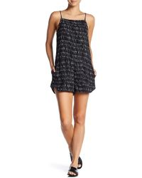 RVCA - Moda Printed Patch Pocket Romper - Lyst