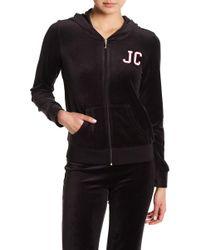 Juicy Couture - Robertson Velour Zip Hoodie - Lyst