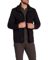 John Varvatos - Hooded Double Zip Shirt Jacket - Lyst