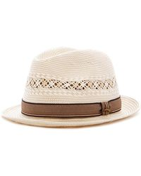 Tommy Bahama | Deluxe Two-tone Toyo Fedora | Lyst