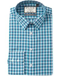 Thomas Pink - Gerry Check Super Slim Fit Dress Shirt - Lyst