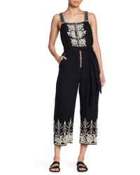 Johnny Was - Embroidered Linen Overalls - Lyst