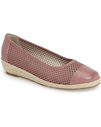 David Tate - Nadine Perforated Espadrille Wedge (women) - Lyst