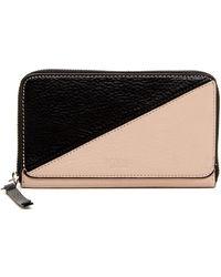 Perlina | Easy Colorblock Zip-around Wallet | Lyst