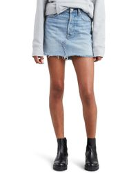 Levi's - (r) Deconstructed Denim Skirt - Lyst