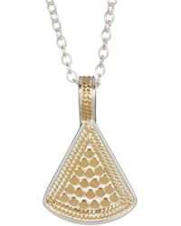 Anna Beck - Sterling Silver & 18k Gold Reversible Fan Pendant Necklace - Lyst