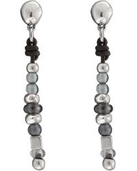 Uno De 50 - Ball After Ball Single Strand Bead Leather Earrings - Lyst