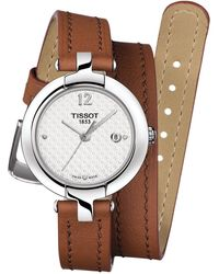 Tissot - Women's Couturier Automatic Leather Watch - Lyst