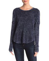 Splendid - Washed Long Sleeve Thermal Shirt - Lyst