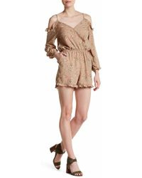 Fraiche By J - Floral Print Off-the-shoulder Romper - Lyst