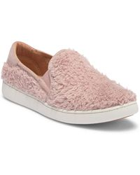 55819b7c6068fa Lyst - Vans Classic Slip-on Fuzzy Suede Ankle-high Shoes in Pink
