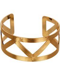 Panacea - Hammered Zigzag Bracelet - Lyst