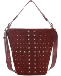 Sorial - Mia Studded Suede Bucket Bag - Lyst