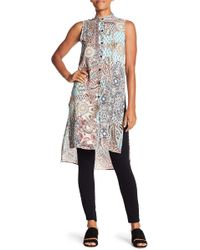 Spense - Front Button Print Tunic - Lyst