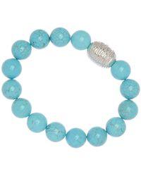 Simon Sebbag - Sterling Silver Turquoise Magnesite Stretch Bracelet - Lyst