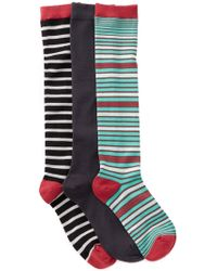 Socksmith - Stripe Solid Knee Length Socks - Pack Of 3 - Lyst