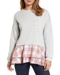 Caslon - Double Layer Sweatshirt - Lyst