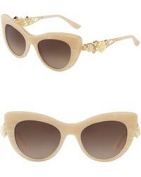 Dolce & Gabbana - 50mm Rose Cat Eye Sunglasses - Lyst