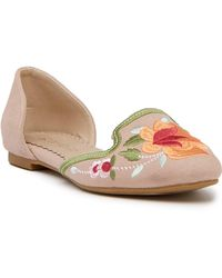 Restricted - Gypsy Embroidered D'orsay Flat - Lyst