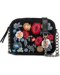 Lucky Brand - Super Bloom Floral Embroidered Suede Camera Bag - Lyst