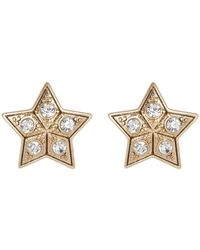 Jenny Packham - Bezel Set Glass Crystal Star Shape Stud Earrings - Lyst