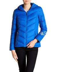 Tommy Hilfiger - Packable Puffer Hooded Jacket - Lyst