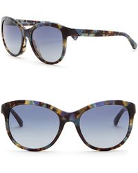 Emporio Armani - 58mm Cat Eye Acetate Frame Sunglasses - Lyst