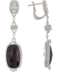 Judith Ripka - Sterling Silver Gold Coast Elongated Cushion Stone Dangle Earrings - Lyst