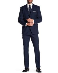 Perry Ellis - Navy Two Button Notch Lapel Slim Fit Suit - Lyst
