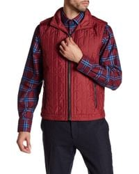 Bugatchi - Quilted Stowable Hood Vest - Lyst