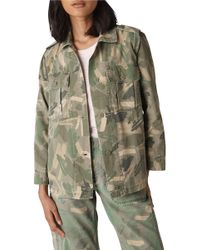Whistles - Longline Camo Utility Jacket - Lyst
