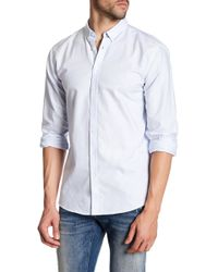 Lindbergh - Oxford Striped Long Sleeve Regular Fit Shirt - Lyst