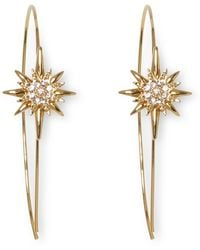 Vince Camuto - Burst Star Wire Threader Earrings - Lyst
