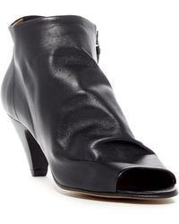 H by Hudson - Goa Peep Toe Leather Bootie - Lyst
