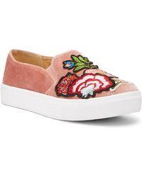 Dirty Laundry - Jiana Embroidered Velvet Slip-on Sneaker - Lyst