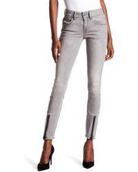 G-Star RAW - Lynn Lunar Zip Mid Skinny Jeans - Lyst