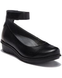 Dansko - Jenna Milled Nappa Leather Ankle Strap Wedge - Lyst