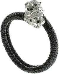 CZ by Kenneth Jay Lane - Cz Accented Leopard Bangle - Lyst