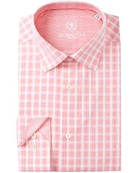 Bugatchi - Plaid Shaped Fit Dress Shirt - Lyst