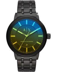 Armani Exchange - Men's Rainbow Ombre Dial Bracelet Watch, 46mm - Lyst