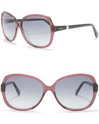 Fossil - Oval 59mm Sunglasses - Lyst